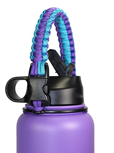 GALAXTEK Paracord Handle For Hydro Flask Wide Mouth Bottle