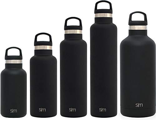 307a542370 Stainless Steel Hydro Kids Flask w/Handle Lid – Midnight Black – Simple  Modern 12oz Ascent Water Bottle – Double Wall Vacuum Insulated Black  Reusable ...