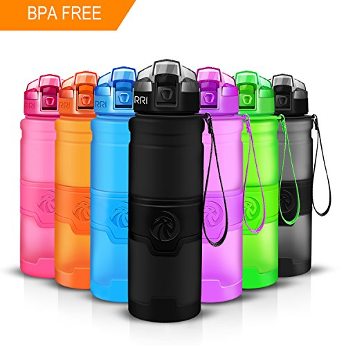 Bpa Free Eco-Friendly Tritan Plastic, Reusable Drinks Water Bottles Filter, Leak Proof Flip Top, Open 1-Click Gym, Yoga, Running – ZORRI Sport Water Bottle ...