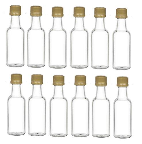 0042e84d4aad MADE IN USA – Nakpunar 12 pcs 50 ml Clear Plastic Liquor Bottles ...